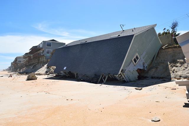 zničené domy