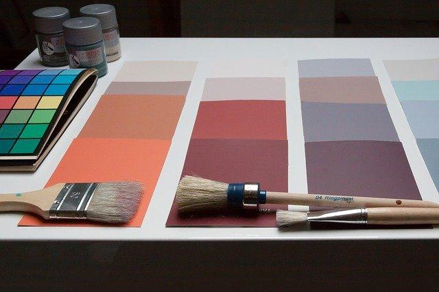 trendové barvy a štětce