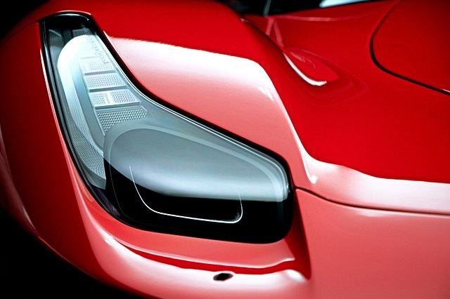 světlo Ferrari