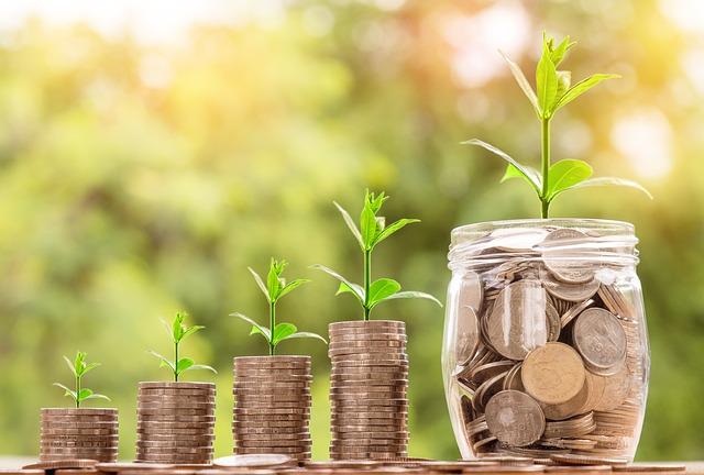 zvětšující se úspory